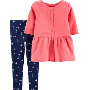 (NWT) Carters little girls two piece set